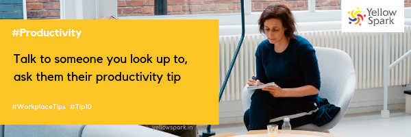 Yellow Spark Workplace Productivity Tip